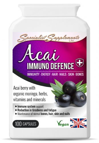 Acai Immuno Defence, Immunity, Energy, Hair, Skin, Nails & Bone Support